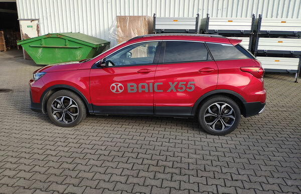 BAIC X55 AT 1.5T for test at CPA Čti více
